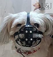 Cuir Muselière pour chien Shih Tzu et autre Face Plane museau court pour femme