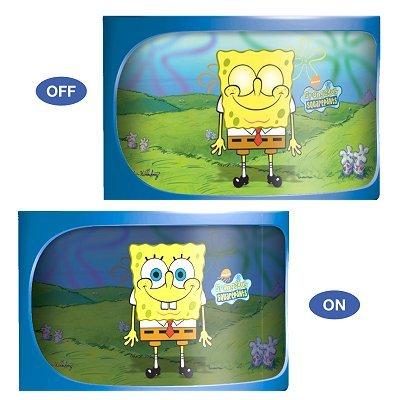 SpongeBob Wandleuchte Land, Kinder Wandlampe, Magic Wall Lamp!! Bei Licht sind die Augen offen! 3 Lampen Motive!