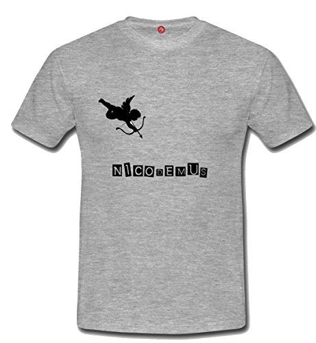 T-shirt Nicodemus grigia