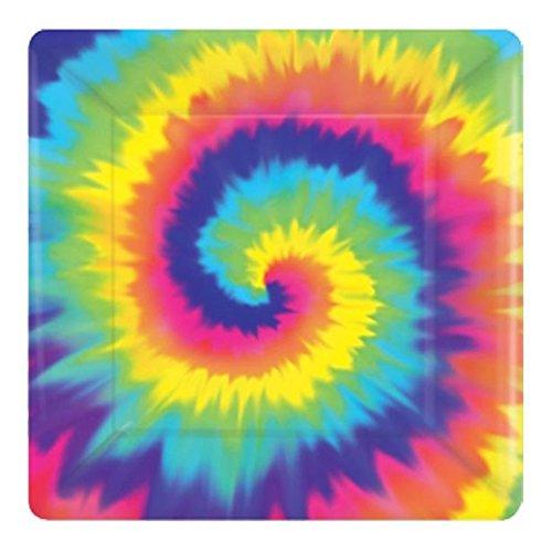 unter dem Motto Kostüm Party 60er 1960s Sixties Rainbow Tie Dye Feeling Groovy Party Dekorationen Geschirr Stolz Hippie Hippie (Platten) ()