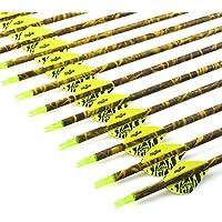 VERY100 Outdoor 30inch 12 Pack Bogenschießen Carbon Pfeile 400 Spine Hunting ersetzen Broadhead für Compound und Recurve Bow