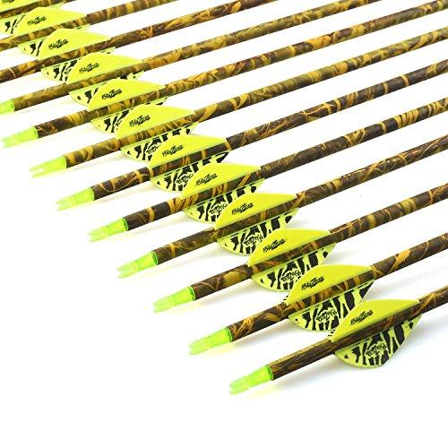 VERY100 Outdoor 31 Zoll 12 Pack Bogenschießen Reiner Carbon Pfeile 500 Spine Hunting ersetzen Broadhead für Compound und Recurve Bow