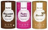 Xucker - Puderxucker (700 g) + Bronxe (1 kg) + Chocolate Drops Zartbitter (750 g) 3er Mix