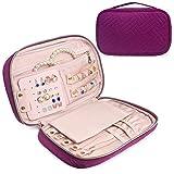homchen Travel Jewellery Organiser Bag, Jewelry Storage Cases for Necklace, Earrings, Rings, Bracelet (Purple)