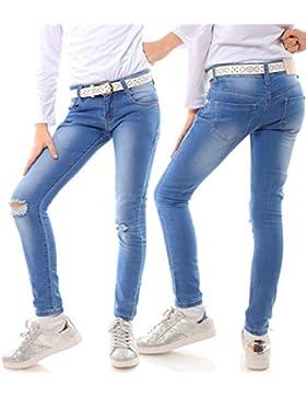 Mädchen Jeans Kinder Hose Stretc