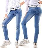 51739eaf6d29 Mädchen Jeans Kinder Hose Stretch Hüfthose Jeanshose Röhrenjeans Jeanshose  21740, Größe 140