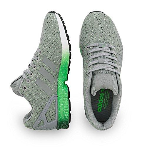adidas Herren Zx Flux Lauflernschuhe Grau (grau / grün / weiß)