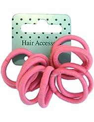 12 élastiques roses doux pour cheveux enfants