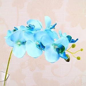 Malayas Orquídea DE 30 Pulgadas de Seda de Tacto Real con Flores de Mariposa Falsas Phalaenopsis Ramas Artificiales para el hogar, Fiesta, Decoración de Boda, Multicolor