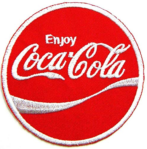 Coca Zubehör Kostüm Cola - LipaLipaNa Genießen Sie Coca Cola Coke Soft Drink Logo Jacke T-Shirt Patch Nähen Eisen auf gesticktem Zeichen Abzeichen Kostüm Kleidung inspiriert Applique Souvenir Zubehör