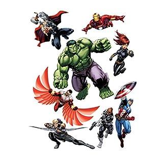 AG Design Marvel Hulk Wand Sticker, 1 Teil, PVC-Folie (Phtalate-Free), Multicolor, 65 x 85 cm