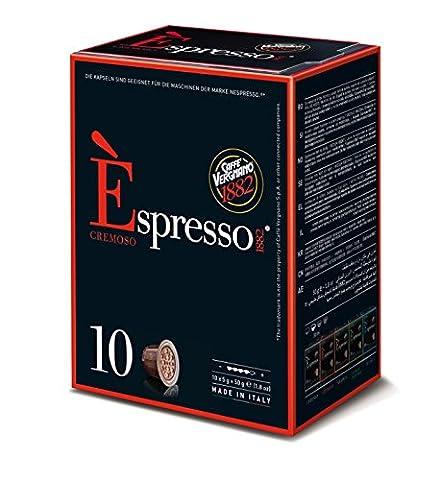 Caffè Vergnano 1882 E'spresso Cremoso, 4er Pack (4 x 10 Kapseln, 4 x 50 g)