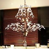 CNMKLM Le style occidental de lustres en cristal vintage bar restaurant en fer forgé lustre lampe Living room Bedroom magasin de vêtements 560*780mm...