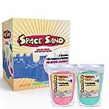 Leo & Emma Space Sand 2kg di sabbia cinétique 50pezzi e accessori a modellare stampi BAC a sabbia gonfiabile
