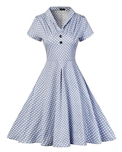 MISSMAO 1950s Retro Vestidos para Mujer de Verano Vintage Casual Cóct