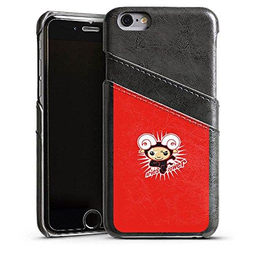 Apple iPhone 4 Housse Étui Silicone Coque Protection Bélier Étoiles Signes du zodiaque Étui en cuir gris