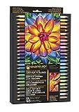 Chameleon Art Products - 25 Pastelli con 50 Colori (Perfettamente combinati) - Basta girare per sfumare