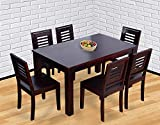 #10: Hariom Handicraft Sheesham Wood Wooden Dining Set 6 Seater | Dining Table with Chairs | Mahogany Finish
