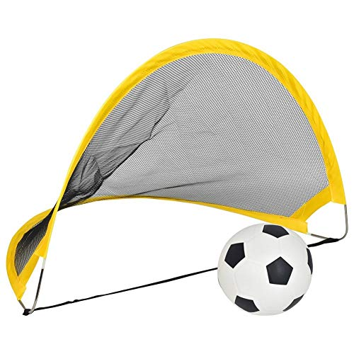 LEOO Fußballtornetze, 2er-Set, mit Agility-Trainingskegeln und tragbarem Tragekoffer für Kinder und Erwachsene (größe : 68x39x33cm)