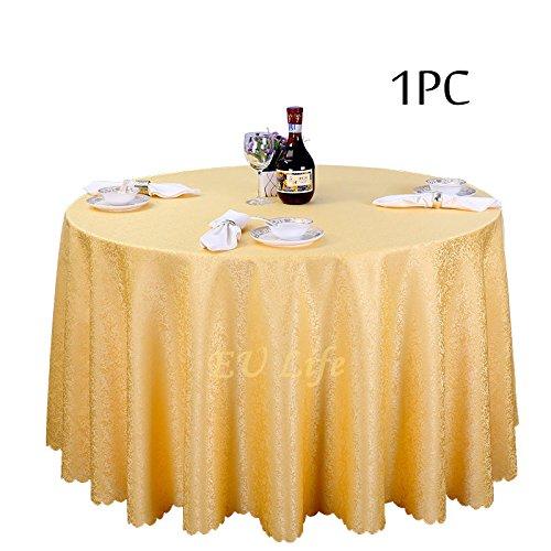 Leinen Quadratische Weiße Tischdecke (BLUELSS Großhandel 1 PC-Jacquard Quadratische Tischdecke Leinen Tischdecke für Ehe Event Party Dekoration Home Textile Tabelle deckt, weiß, 220 cm Durchmesser, China)
