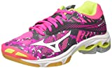 Mizuno Damen Wave Lightning Z4 WOS Volleyballschuhe, Rose/Gris/Blanc
