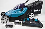 Makita dlm431pt2 Push Lawn Mower Black, Blue Lawn Mower Lawn Mowers (Push Lawn Mower, 1000 m², 4.3 cm, 2 cm, 7.5 cm, 50 l)