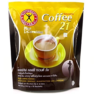 Naturegift Instant Coffee Mix 21 Plus L-Carnitine Slimming Weight Loss Diet from Naturegift