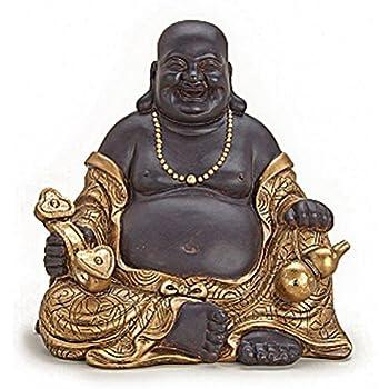 Deko Figur Happy Buddha Figur Sitzend Statue
