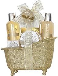 Gloss! Baignoire de Bain Paillette 5 pièces, Coffret Cadeau-Coffret de bain