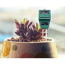 Planta Suelo Tester, Kit 3-in-1suelo probador termómetro medidor de acidez ph Meter ideal para el jardín, granja, césped, interior y exterior
