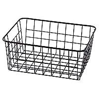 TEERFU Storage Basket Bins Organizer with Handles for Kitchen, Pantry, Freezer, Cabinet,Wire Bathroom Shelves Makeup Organiser