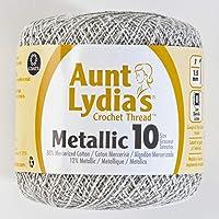 Coats Crochet Crochet Thread, White/Silver, 10