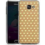 Samsung Galaxy A3 (2016) Housse Étui Protection Coque Petit c½ur Beige Polka