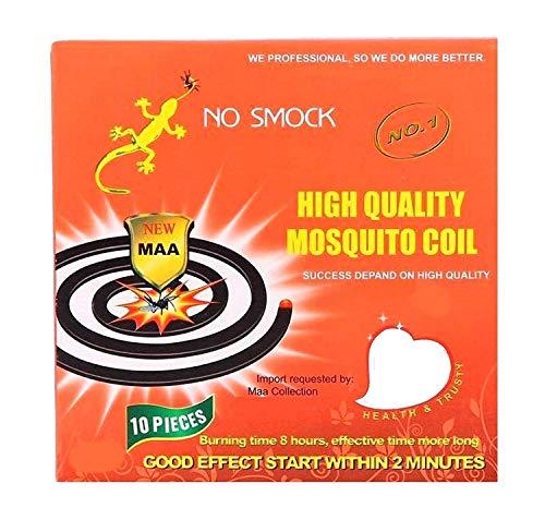 100 Insektenspirale Antimücken-Spirale Wirksame Mückenabwehr Insektenschutz, Extra Lange Brenndauer, Moskito Schutz Wirkt sicher und zuverlässig