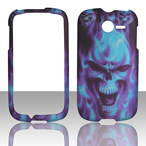 2d-blue-skull-huawei-ascend-y-m866-tracfone-uscellular-case-cover-hard-phone-case-snap-on-cover-rubb