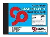 Cherry, blocchetti A6 per ricevute con 50 pagine in carta chimica autocopiante in duplice copia
