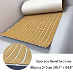 yuanjiasheng 90×240cm EVA Synthetic Boat Decking Sheet Yacht Marine Flooring Anti Slip Carpet With Backing Adhesive,Bevel Edge 20