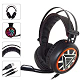 bescita Ver-Ear-Teenager DJ Gaming Headset Kopfhörer, Stereo-Headset mit Mikrofon Over Ear Headset Ohrpolster für Nintendo-Switch für/PC / PS4 / Xbox One (Rot)