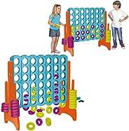 Feber 4 In A Row Garden Game - 800011460, 118 x 28 x 118 cm Green/Blue/Orange