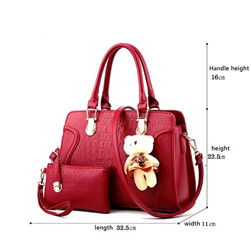 Sunas 2017 il nuovo modello del coccodrillo della borsa delle signore ha impresso il pacchetto diagonale del sacchetto di spalla dell'unità di elaborazione di modo del sacchetto femminile vino rosso