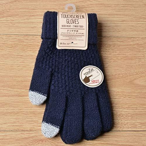 Damen Strickhandschuhe Winter Warm Dick Touchscreen Handschuhe Handschuhe -a811-b1
