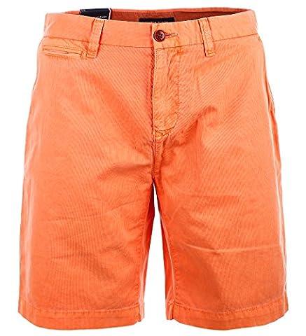 Tommy Hilfiger Herren Kord Chino Shorts kurze Hose Bermuda deep orange Größe 31