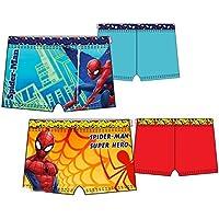 Pack de 2 bañadores (tipo boxer) 2 modelos diferentes diseño SPIDERMAN (Marvel) 85% poliester 15% elastano