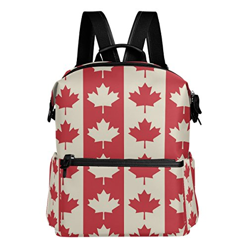 Alaza Kanada Maple Leaf Casual Rucksack Leichte Reise Daypack Student Schultasche (Kanada Leichter)