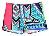 Shorts Damen, sondereu Hot Pants Bunt Muster Mode Geometrisch Sports Strandshorts Freizeit Beach Kurz Hosen (XL, Blau)