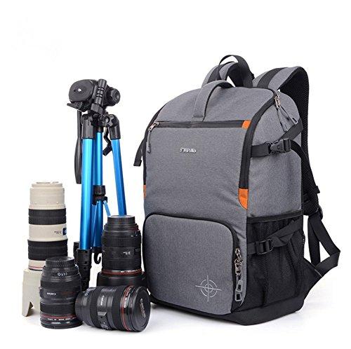 yaagle-sac-a-dos-unisexe-pour-appareil-photo-sport-loisir-en-polyester-gris