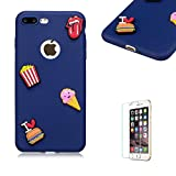 For iPhone 7 Plus/iPhone 8 Plus Case 5.5inch Soft Silicone Gel TPU Cover, Funyye Ultra Thin Slim Lightweight Matte Trendy Cute Candy Colour [Dark Blue] Sweet Lovely Back Bumper Rubber Shockproof Non slip Protective Case for iPhone 7 Plus/iPhone 8 Plus Case 5.5inch - Hamburger