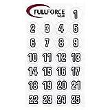 Full Force Wear 100 weiße Helmnummern Aufkleber