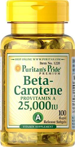 Beta Carotin 25.000 I.E. 100 Softgels