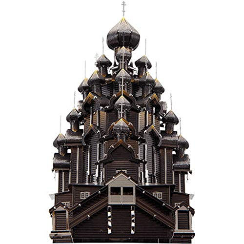Puzzle wichtigsten heiligen Kathedrale 3D dreidimensionales Metall montiert Modell Spielzeug für Erwachsene/Kinder kreatives Geschenk Schwarz + Werkzeug A + B One Size